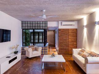 Daniel Cota Arquitectura   Despacho de arquitectos   Cancún Modern Living Room Concrete Multicolored