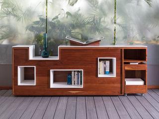 Daniel Cota Arquitectura   Despacho de arquitectos   Cancún Balconies, verandas & terraces Furniture Solid Wood Wood effect