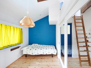 一級建築士事務所アトリエm غرفة نوم Blue
