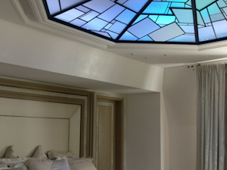 """Plafond """"sous les étoiles"""" / ON-ME Light ON-ME Chambre minimaliste Verre Bleu"""