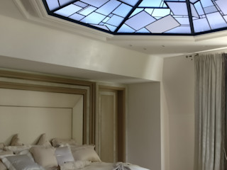 """Plafond """"sous les étoiles"""" / ON-ME Light ON-ME Chambre minimaliste Verre Blanc"""