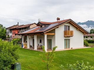Woodbau Srl Chalets & maisons en bois Bois Blanc