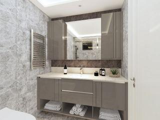 homify Modern bathroom Wood Brown