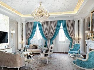 DMR DESIGN AND BUILD SDN. BHD. Modern living room Beige