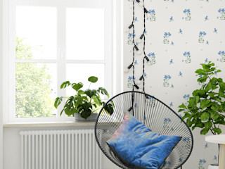 Humpty Dumpty Room Decoration Teen bedroom Blue