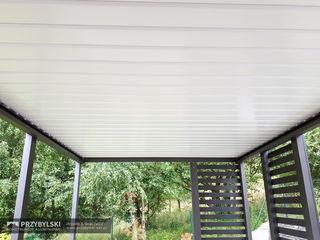 P.W. Przybylski Modern style balcony, porch & terrace Aluminium/Zinc