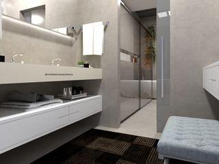Laene Carvalho Arquitetura e Interiores 現代浴室設計點子、靈感&圖片 水泥 Grey