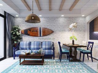 ICON INTERIOR Salas de estilo mediterraneo