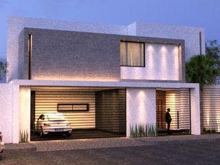 arquitectura+proyectos 모던스타일 주택 콘크리트 화이트