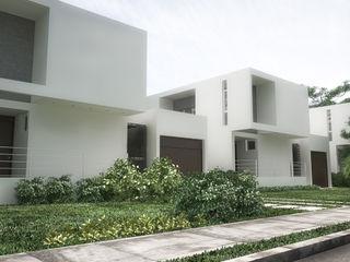 5 Casas en Miami RRA Arquitectura Jardines en la fachada Madera Blanco