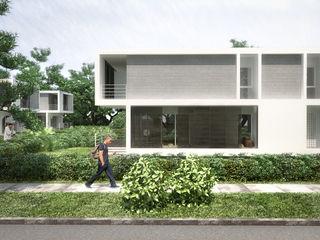 5 Casas en Miami RRA Arquitectura Jardines en la fachada Madera Marrón