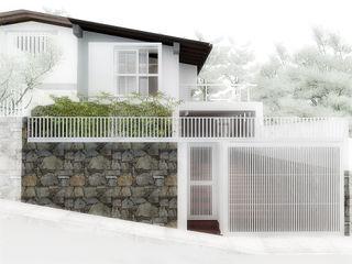 Lomas de Las Mercedes RRA Arquitectura Puertas de garajes Piedra Blanco
