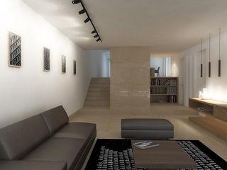 Lomas de Las Mercedes RRA Arquitectura Salas de estilo minimalista Mármol Beige
