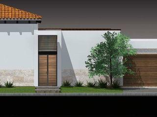 arquitectura+proyectos 모던스타일 주택 철근 콘크리트 화이트