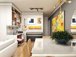 Studio M Arquitetura Oficinas y bibliotecas de estilo moderno