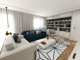 Studio M Arquitetura Livings de estilo clásico