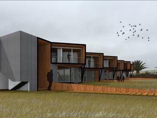 Crescente Böhme Arquitectos Modern houses Wood Wood effect