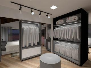 Suíte e closet Cláudia Legonde Closets MDF Branco