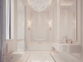 Bathroom Design Ideas – Beauty in Simplicity IONS DESIGN Classic style bathrooms Marble White