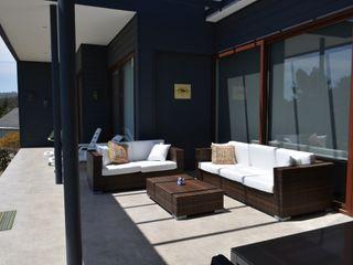 AOG Modern Balkon, Veranda & Teras Ahşap-Plastik Kompozit Siyah