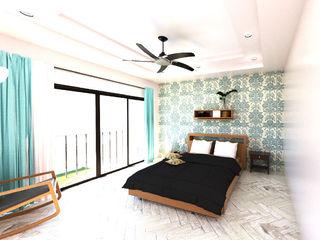 A4AC Architects Kamar Tidur Modern Kayu Multicolored