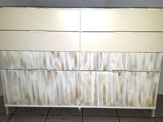 Restyling arredamento di un appartamento Dilegno InLegno Sala da pranzo eclettica Legno Bianco