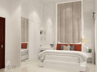 Klasik Modern PEKA INTERIOR Kamar Tidur Klasik Kayu Buatan White
