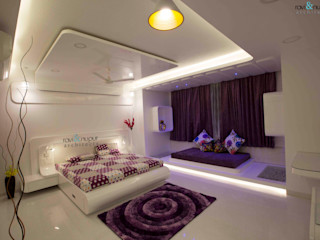RAVI - NUPUR ARCHITECTS Dormitorios de estilo moderno Blanco