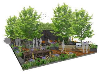 Trade Stand Concept for Chelsea Flower Show 2018 Aralia Jardins zen Madeira Verde