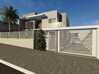 Projeto residencial contemporâneo Cláudia Legonde Casas familiares Pedra Cinza