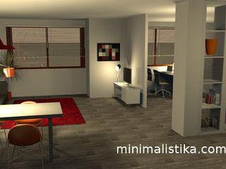 Minimalistika.com Salon minimaliste Panneau d'aggloméré Gris