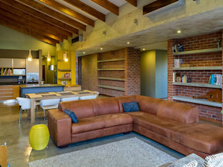 HOUSE NELL ENDesigns Architectural Studio Modern living room Bricks Grey