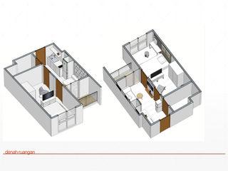 jaas.design Modern style bedroom Plywood White