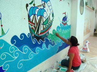 Mozaik Sanat Evi Piscinas clássicas Azulejo