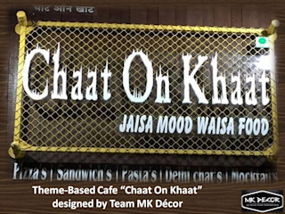 Chaat On Khaat Fusion Cafe Designed by Team MK Decor MK Decor Classic hotels Bamboo Amber/Gold