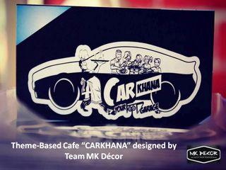 """CarKhana"" ATheme-Based Cafe Designed by Team MK Decor MK Decor Rustic style hotels Bricks Brown"