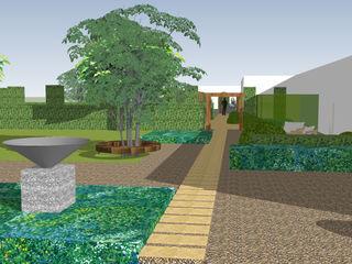Stable House Essex Aralia Jardins zen Pedra Bege