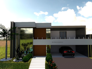 Laene Carvalho Arquitetura e Interiores 現代房屋設計點子、靈感 & 圖片