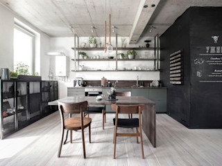 INT2architecture Industrial style kitchen Green
