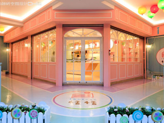 大漢創研室內裝修設計有限公司 Restaurantes Compuestos de madera y plástico Rosa