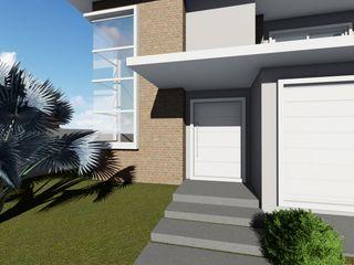Proposta de edificação residencial em Ijuí - RS Cláudia Legonde Casas familiares Tijolo Branco