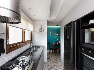 Rabisco Arquitetura Armários de cozinha Cinzento