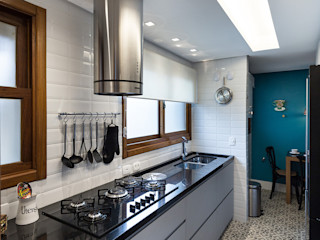 Rabisco Arquitetura Armários de cozinha MDF Cinzento