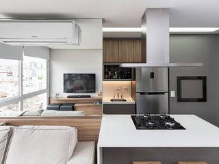 Rabisco Arquitetura Salas de estar modernas MDF Acabamento em madeira