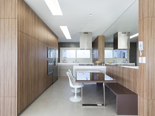 Rabisco Arquitetura Cozinhas modernas MDF Acabamento em madeira