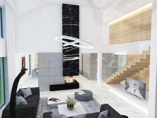 4Q DEKTON Pracownia Architektoniczna Modern living room White