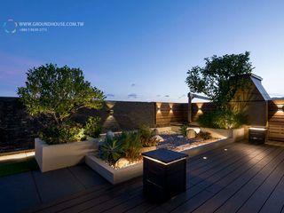 大地工房景觀公司 Balcon, Veranda & Terrasse minimalistes