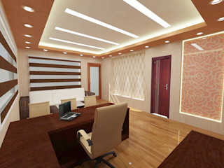 commercial Design Tales 24 Modern study/office Beige