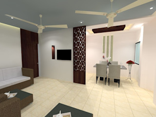 Residentail project Design Tales 24 Modern living room White