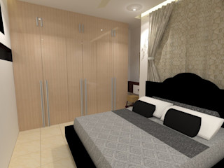 Residentail project Design Tales 24 Modern style bedroom Beige
